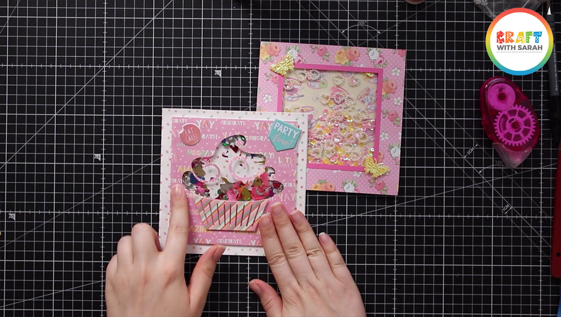 Finished cupcake shaker card