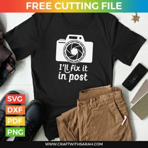 Fix it in Post T-Shirt Design for Photographers