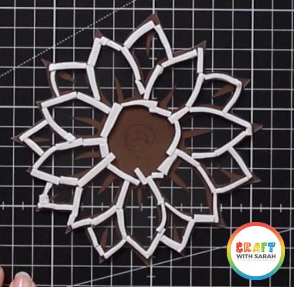 Foam tape sunflower shaker card