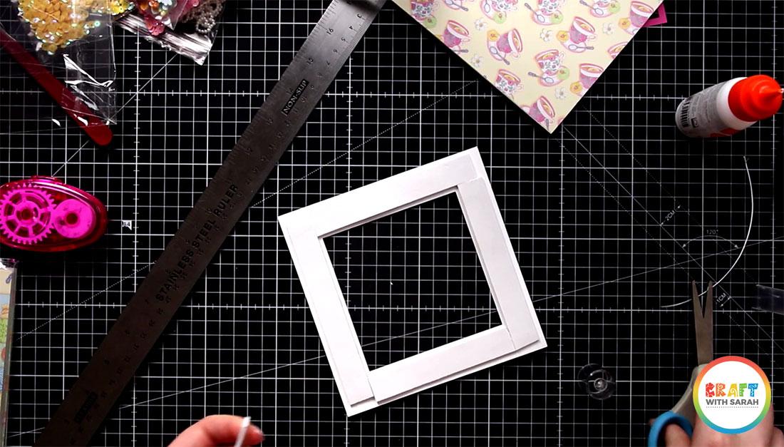 Add foam tape to the window card