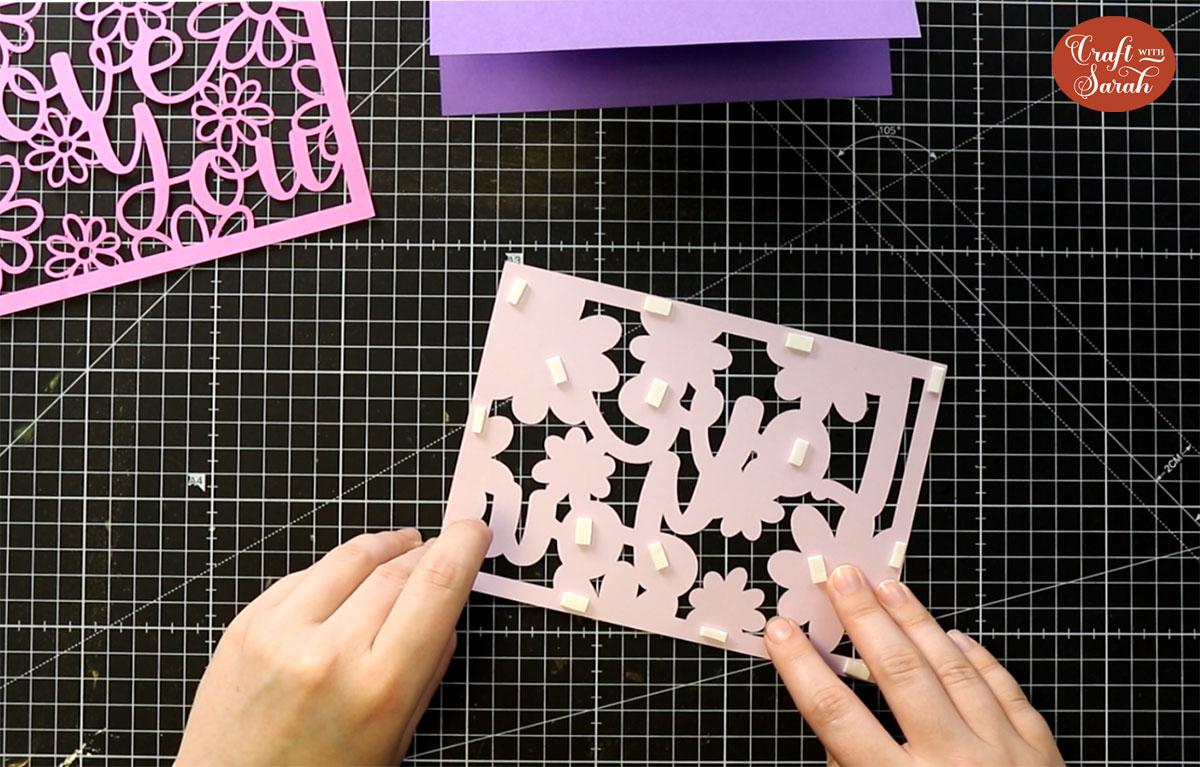 Add foam pads to Layer 2