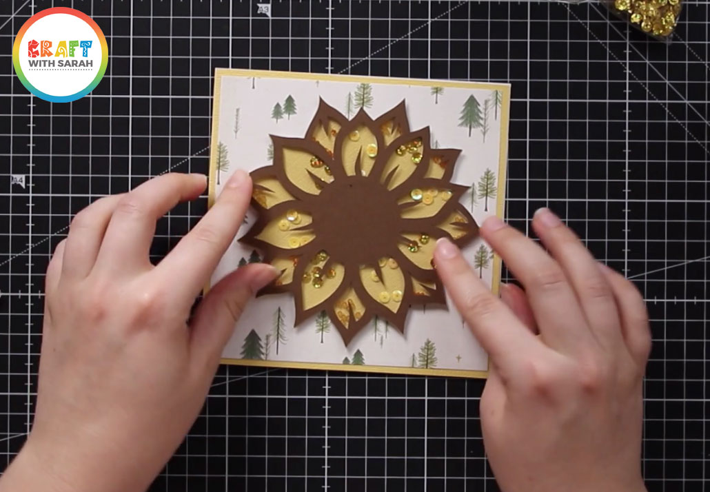 Glue the shaker topper to your card