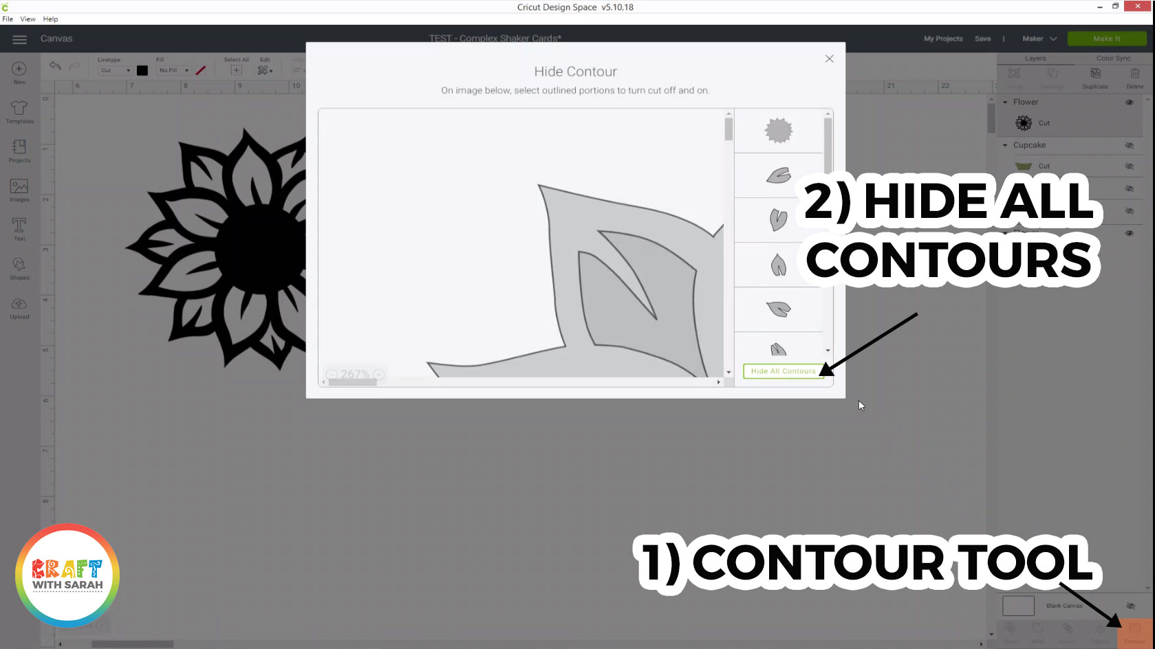 Hide all contours