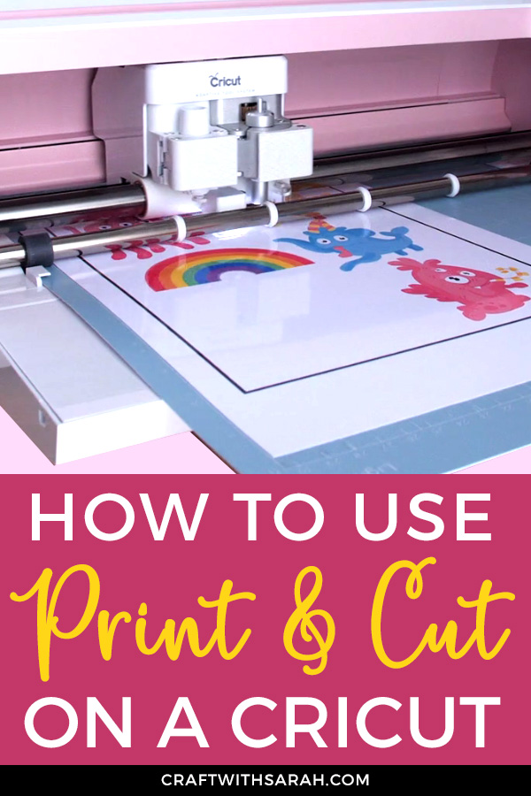 Cricut Print then Cut lets you print something out on your normal home printer and then load it into your Cricut and it will cut it out for you - how cool is that? Find out how to print and cut in Design Spce here.