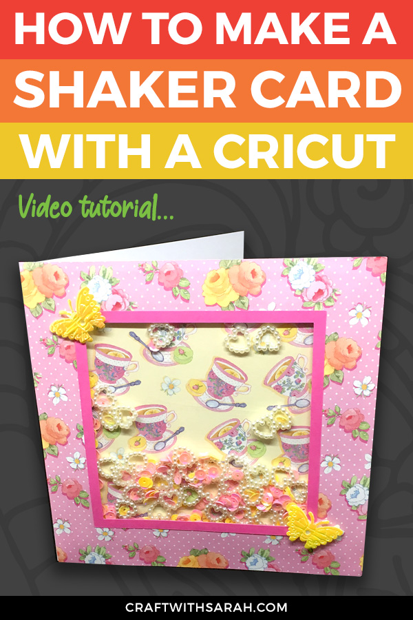 How to Make Simple Shaker Cards with Cricut (Card 1 of 4)