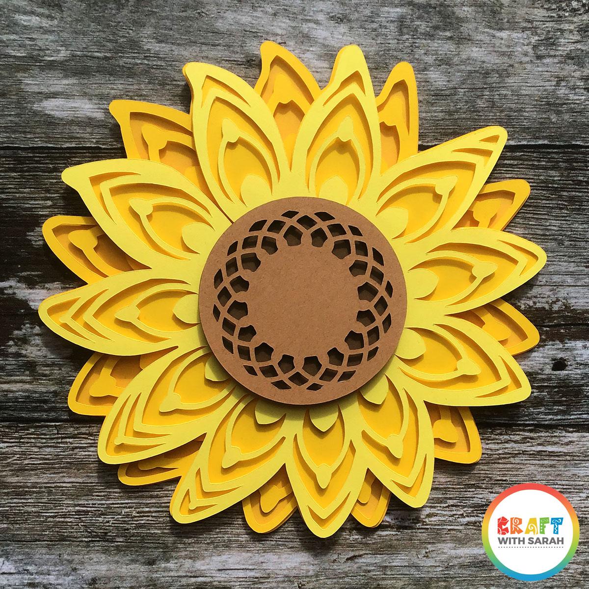 Free layered sunflower SVG