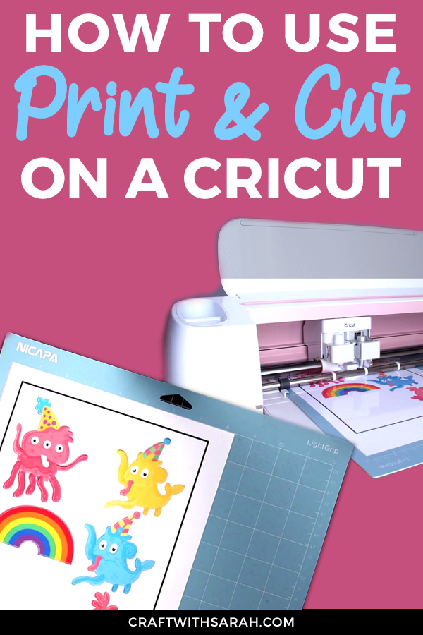 If you've never tried print & cut on your Cricut machine, you're missing out! Learn how to print & cut on Cricut with this video tutorial.
