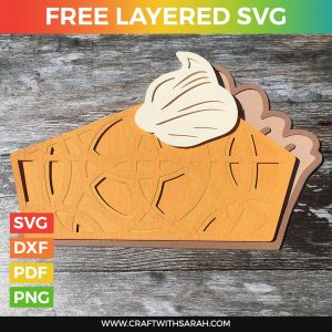 Pumpkin Pie Slice Layered SVG