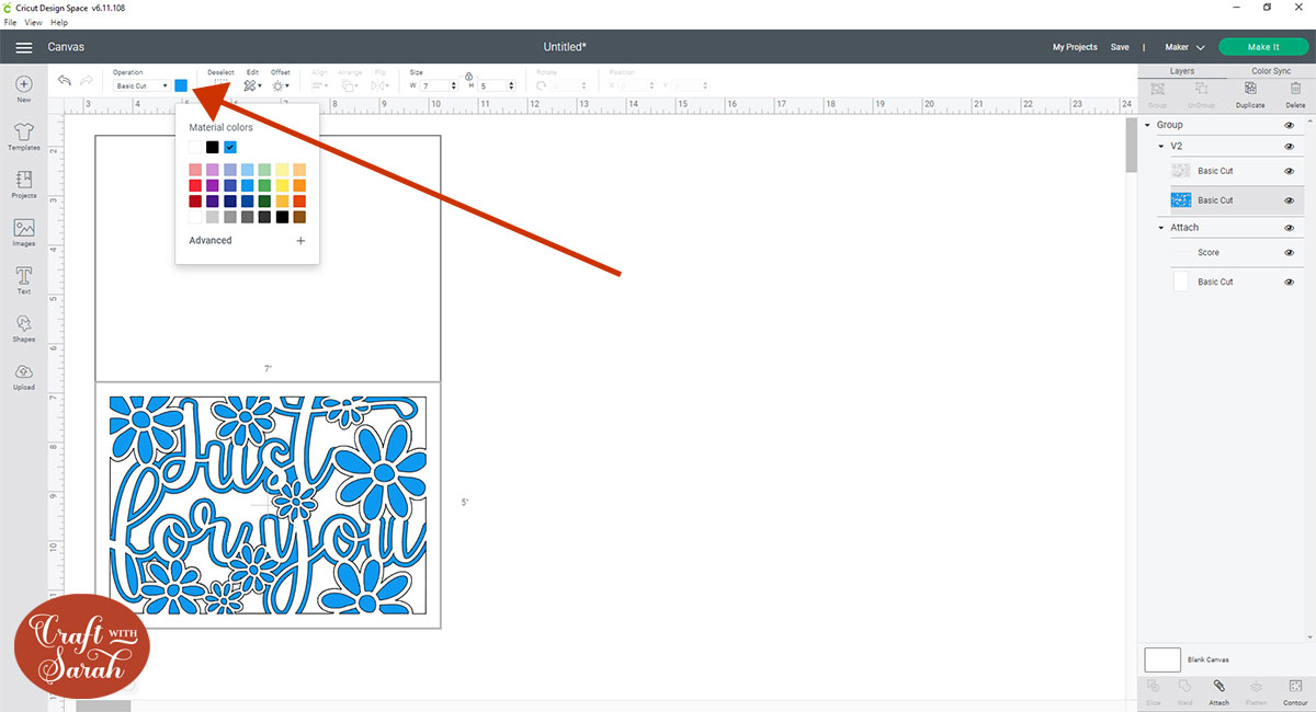 Recolour layers in Design Space