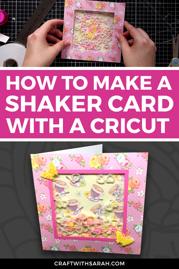 How to make simple shaker cards with a Cricut machine. Shaker cards for beginners. How to make a shaker card with Cricut.