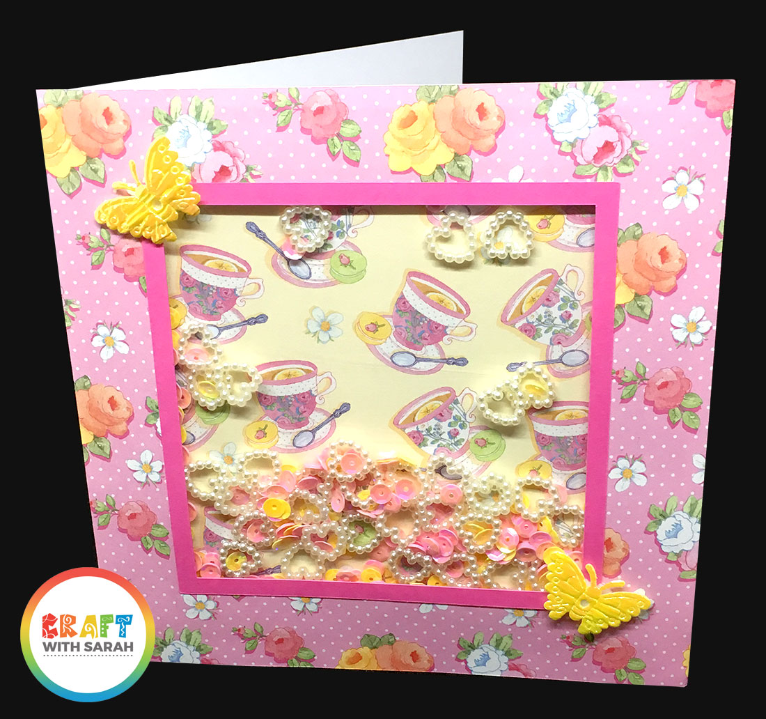 Pink shaker card