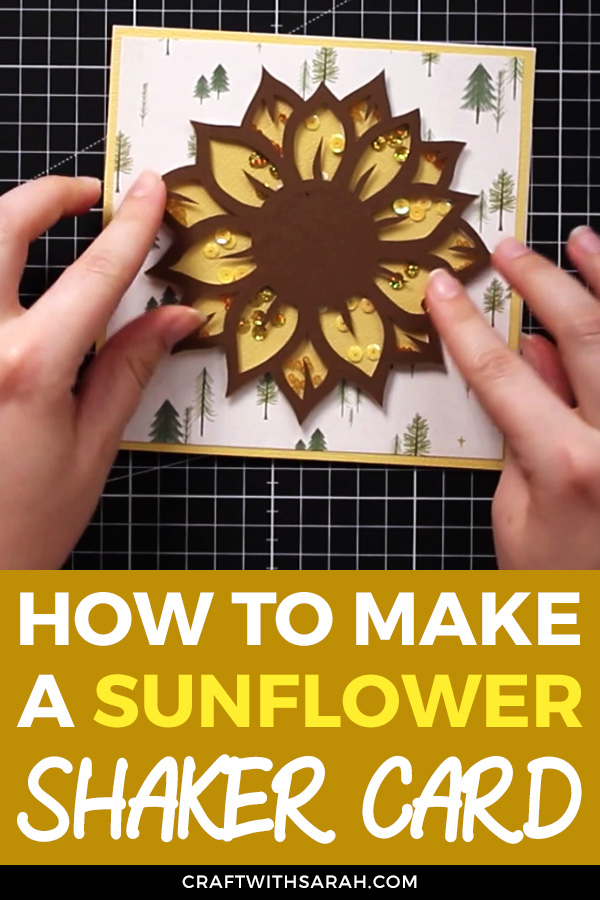 Make this gorgeous sunflower shaker card with your Cricut machine! Learn how to cut acetate with your Cricut to achieve this colourful shaker card topper.