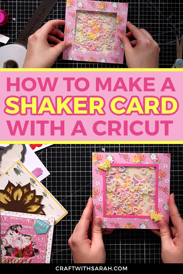 Watch this craft video to find out how to make a simple shaker card with your Cricut. This is the perfect shaker card for beginners!