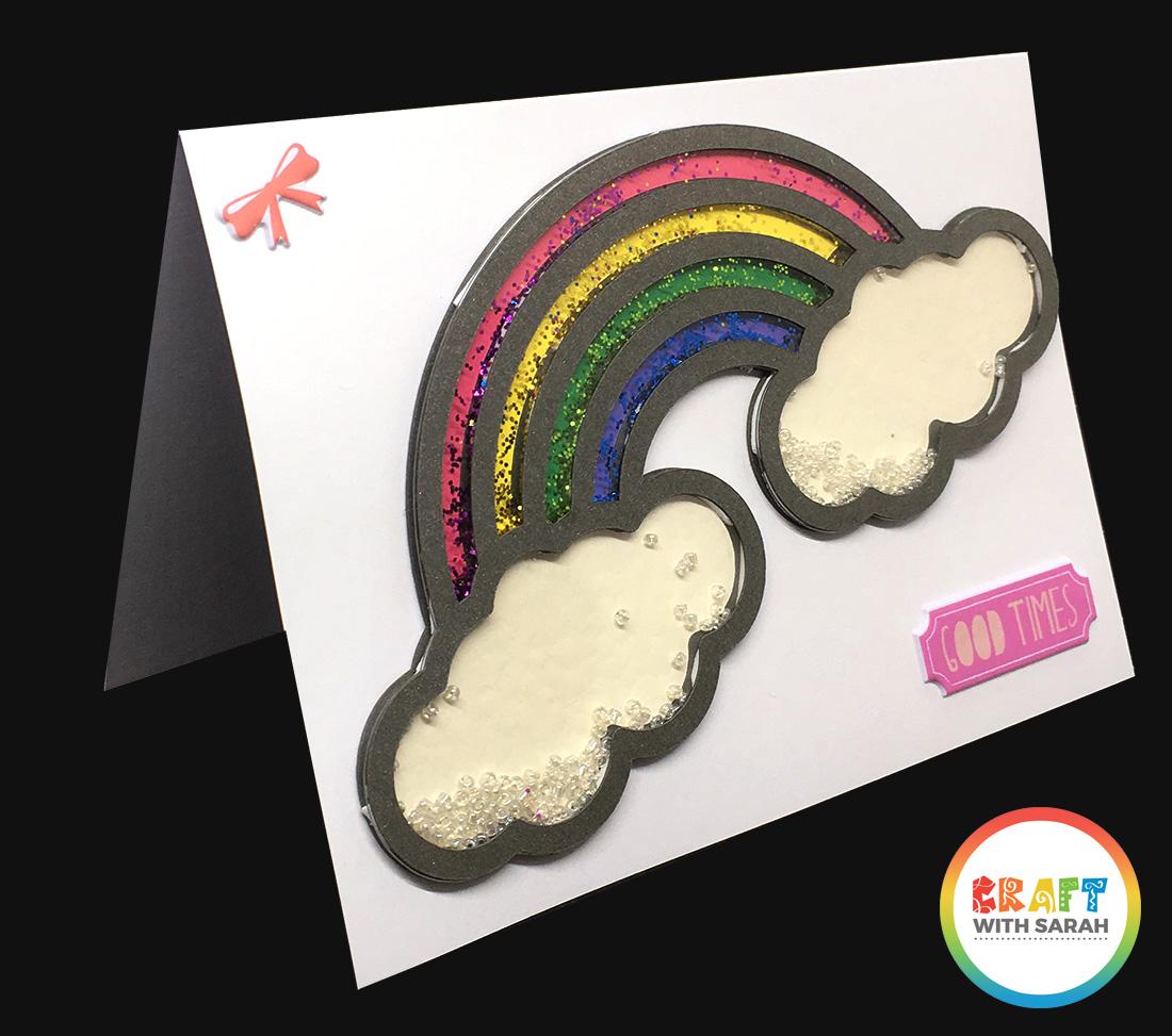 Shaker rainbow glitter card
