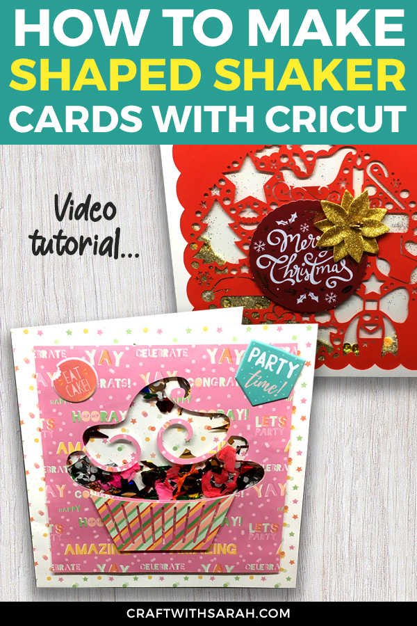 Welcome to this tutorial on how to make shaped shaker cards with a Cricut machine. Shaker cards for beginners. Shaped shaker cards you can make at home.