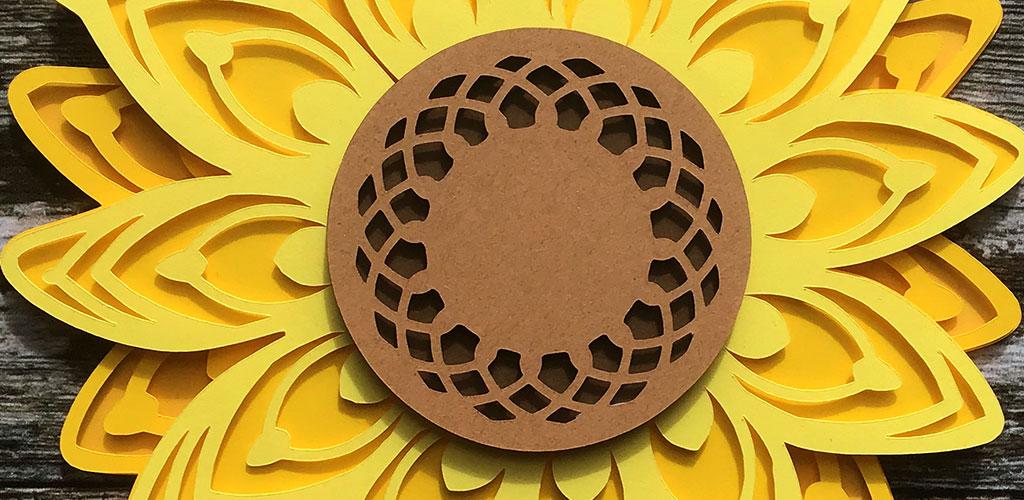 Sunflower Layered SVG   Mandala Flower Cutting File