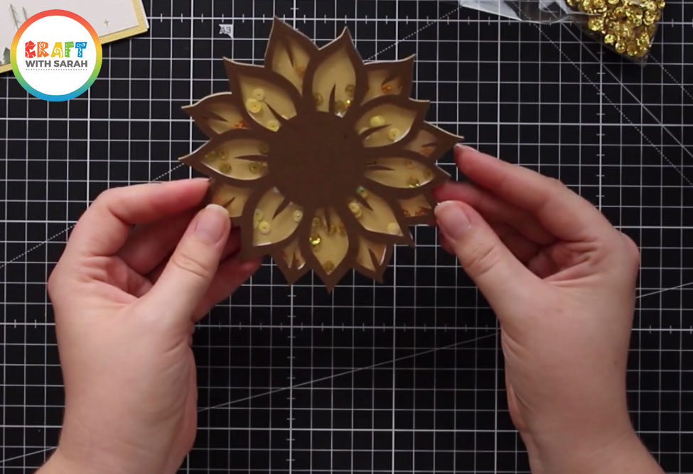 Sunflower shaker card topper