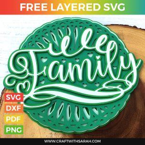 Family Mandala Layered SVG