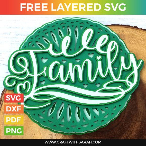 Family Mandala Layered SVG