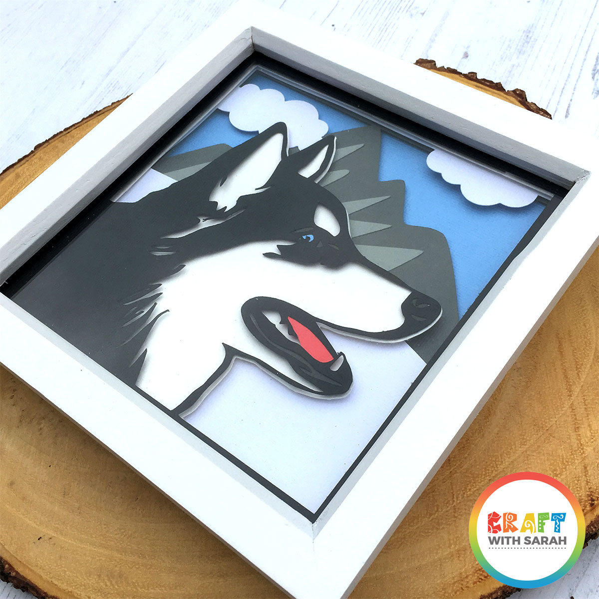 Cricut husky shadow box frame template with free SVG file