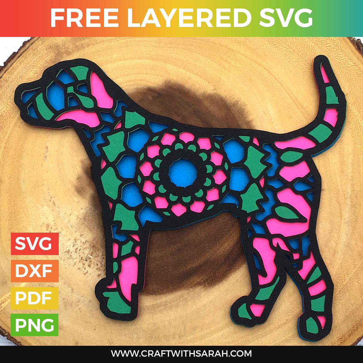 Mandala Dog Layered SVG