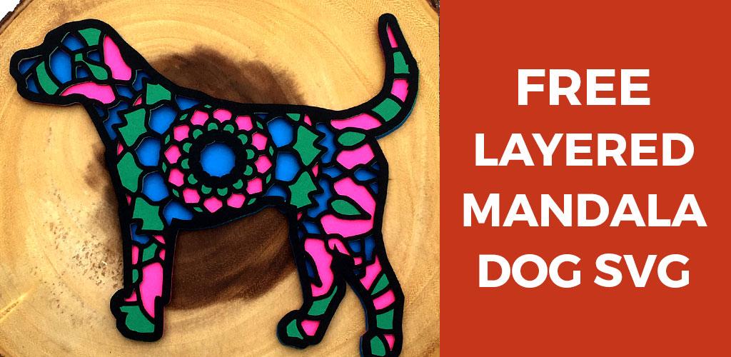 Free Mandala Dog Layered SVG