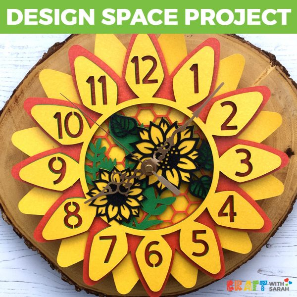 Sunflower Clock Design Space Project