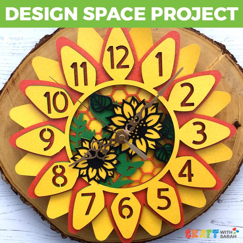 Sunflower Clock Design Space Project
