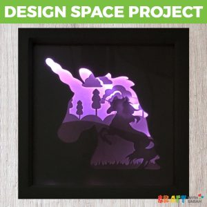 Light-Up Unicorn Shadow Box