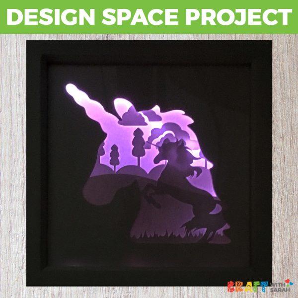 Light-Up Unicorn Shadow Box