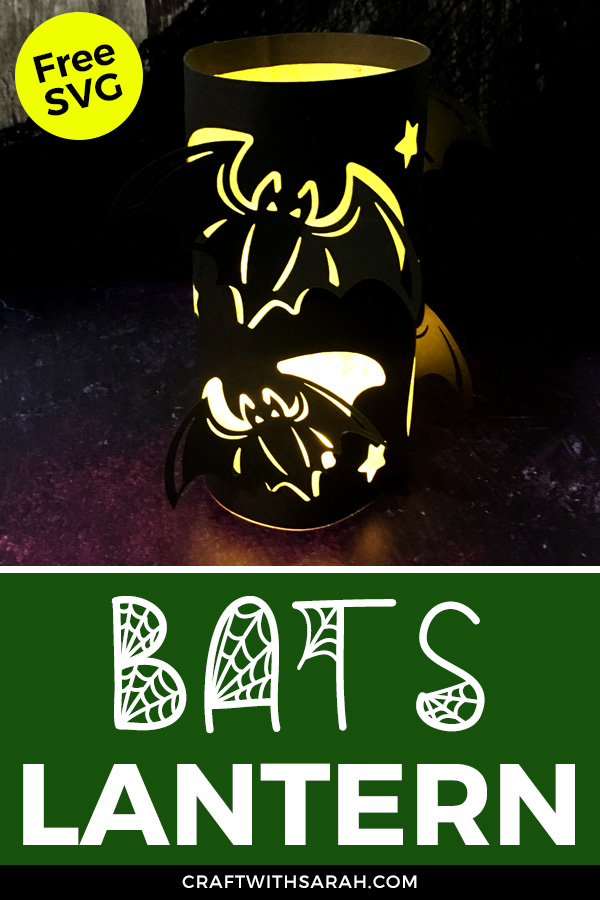 Light up your home this Halloween with this flying bats luminary. Free Halloween bats paper lantern SVG for Cricut machines.