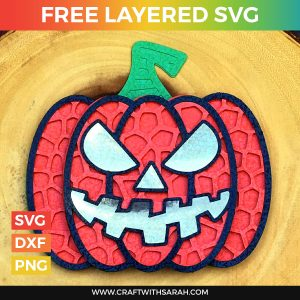 Halloween Jack O'Lantern Pumpkin Layered SVG