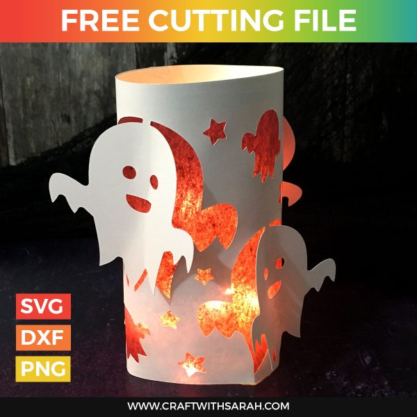 Halloween Ghost Luminary Cutting File