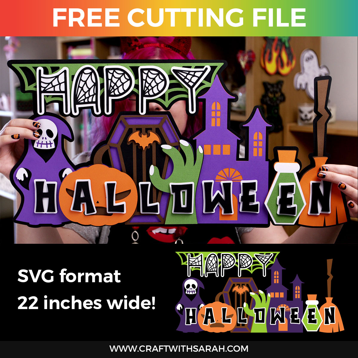 Happy Halloween Layered SVG