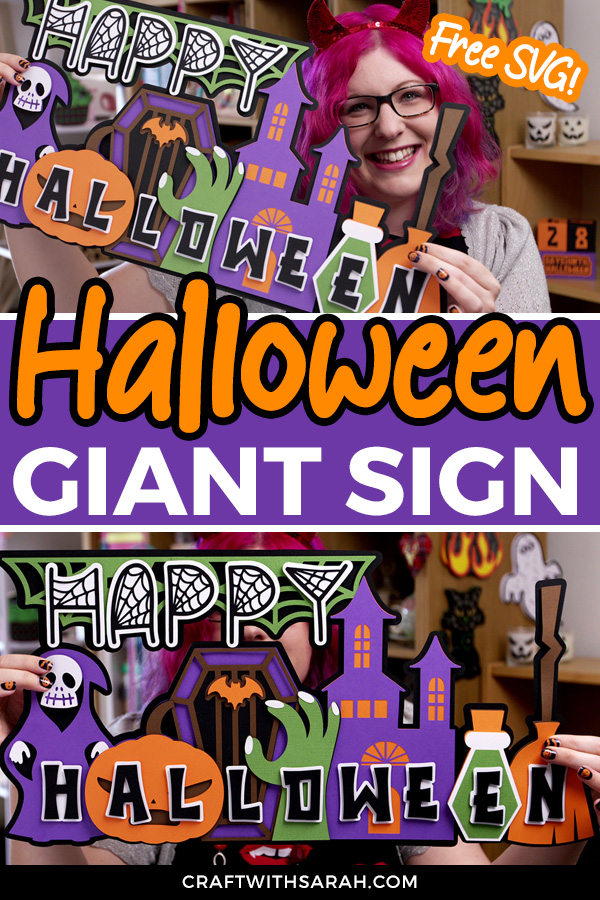 Make a GIANT Halloween Sign with your Cricut
