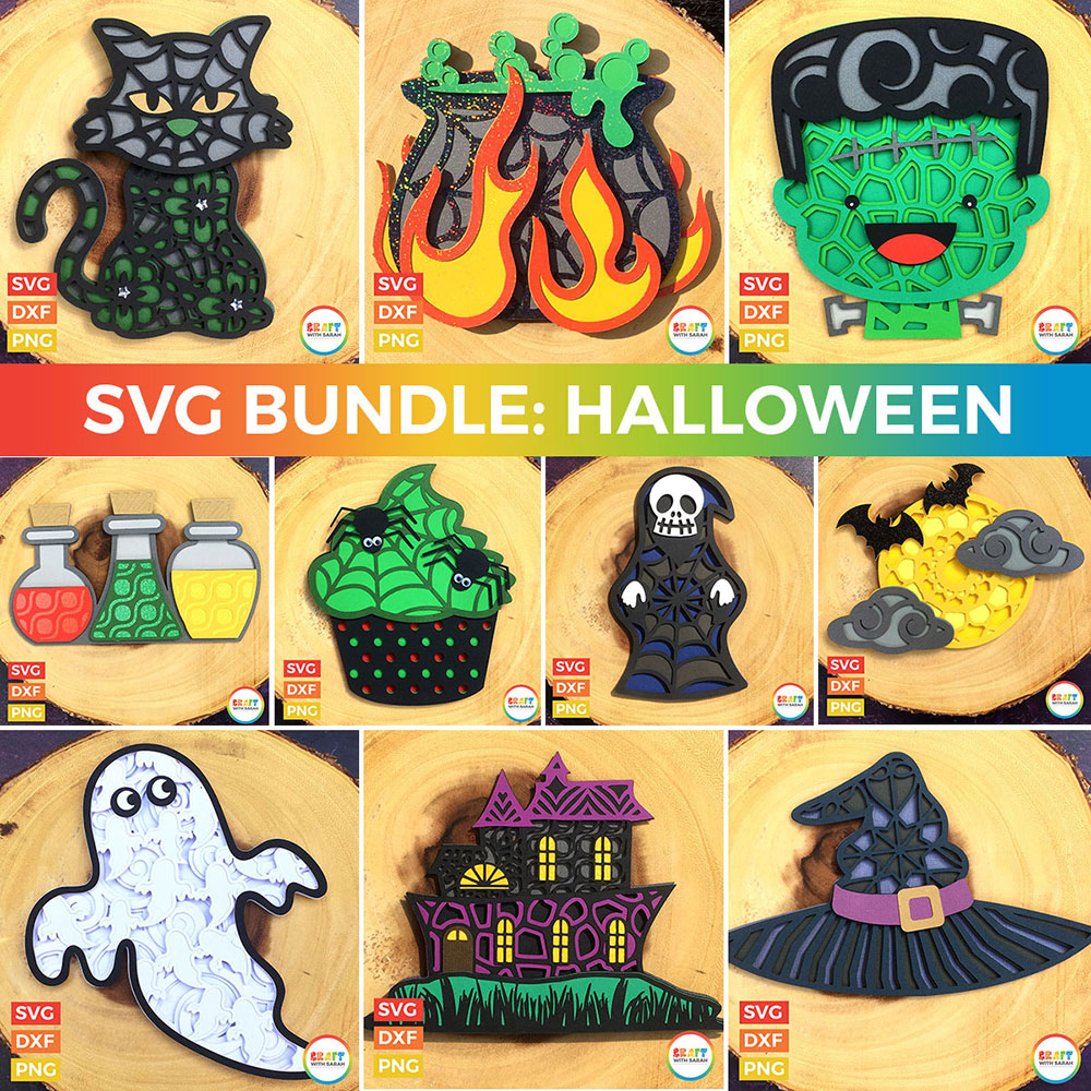 Halloween layered SVGs