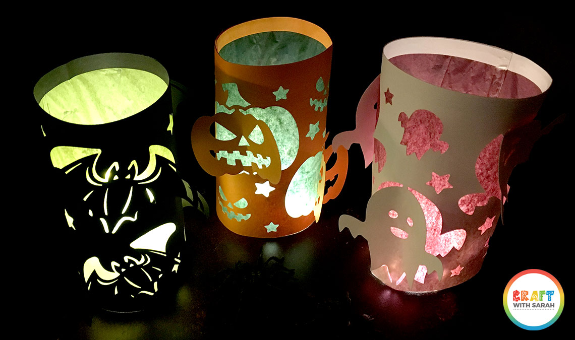 Halloween luminaries with fairy lights