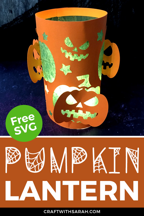 Light up your home this Halloween with this pumpkin luminary. Free Halloween pumpkins paper lantern SVG for Cricut machines.