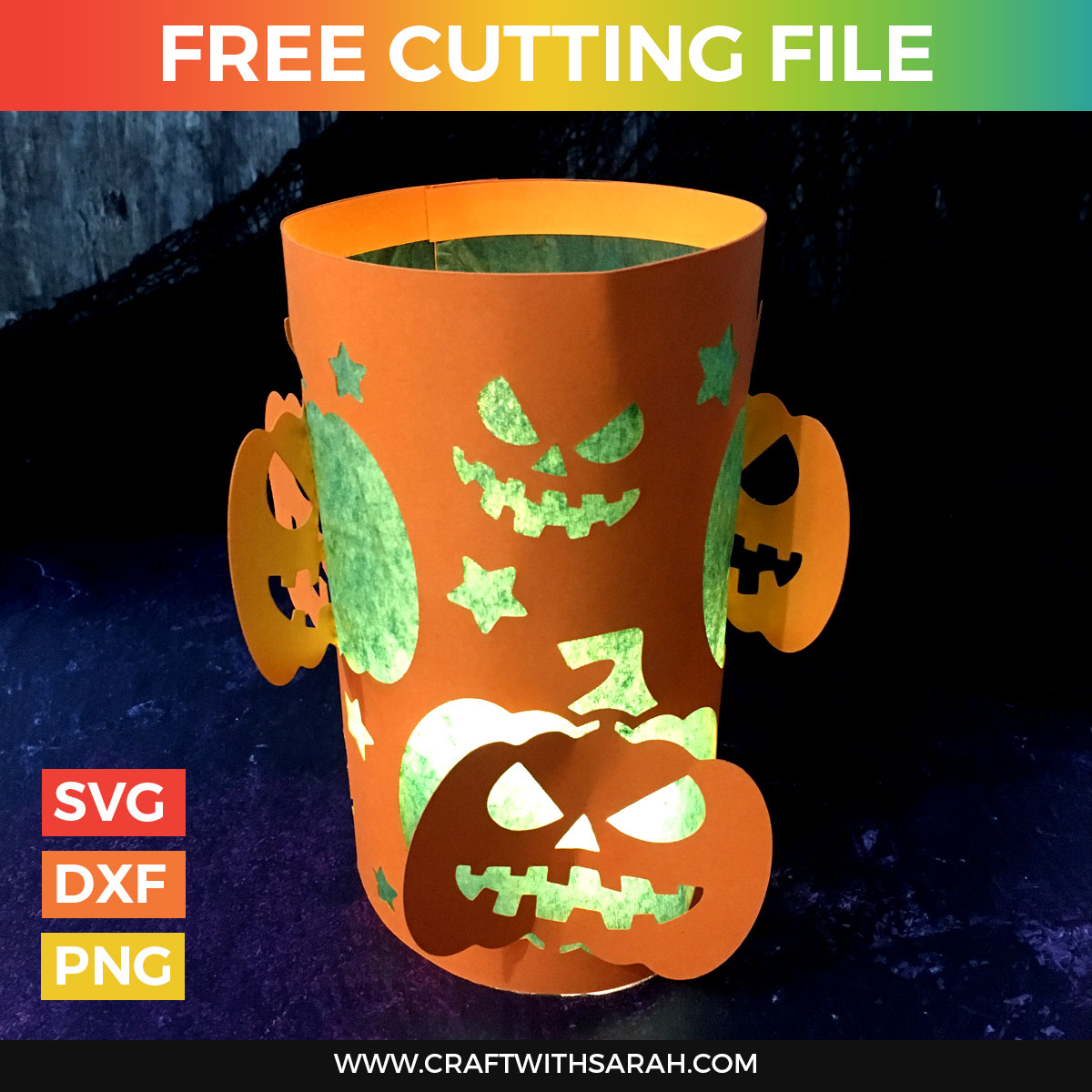 Halloween Pumpkin Luminary Cutting File