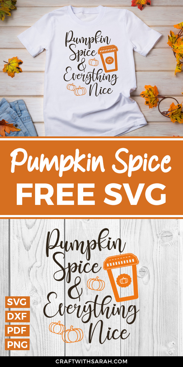 Free pumpkin spice SVG for Cricut. Pumpkin spice latte cricut t-shirt ideas.