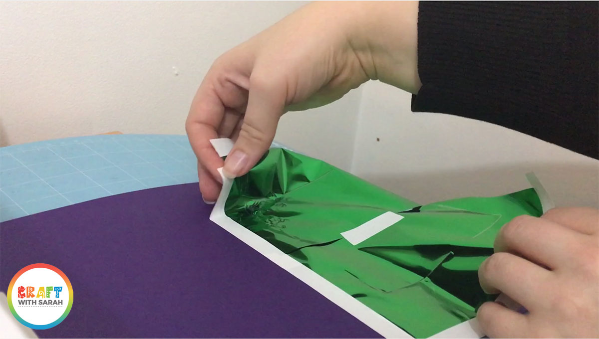 Remove the green foil