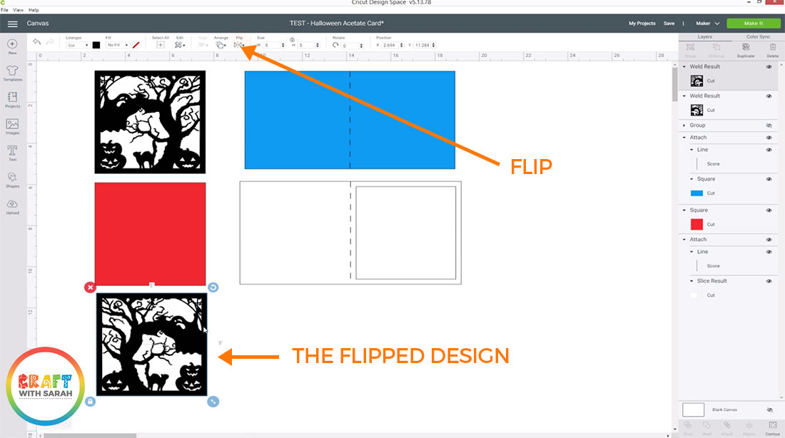 Duplicate and flip the design