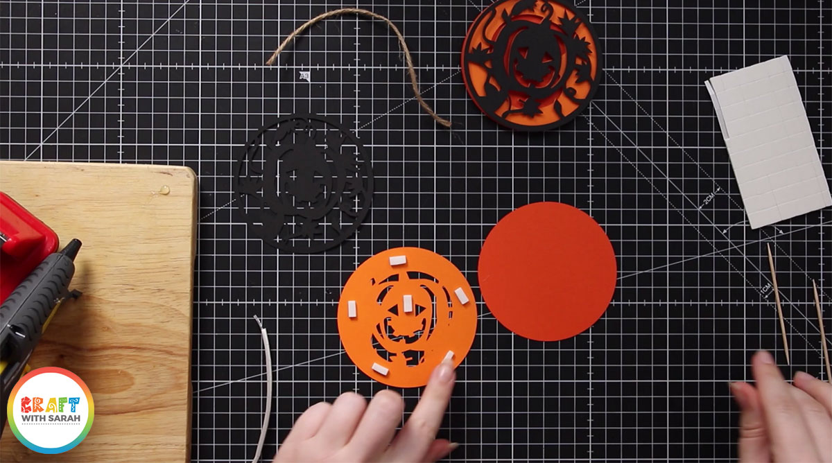 Use 3D foam pads to stick all the layers of your designs together