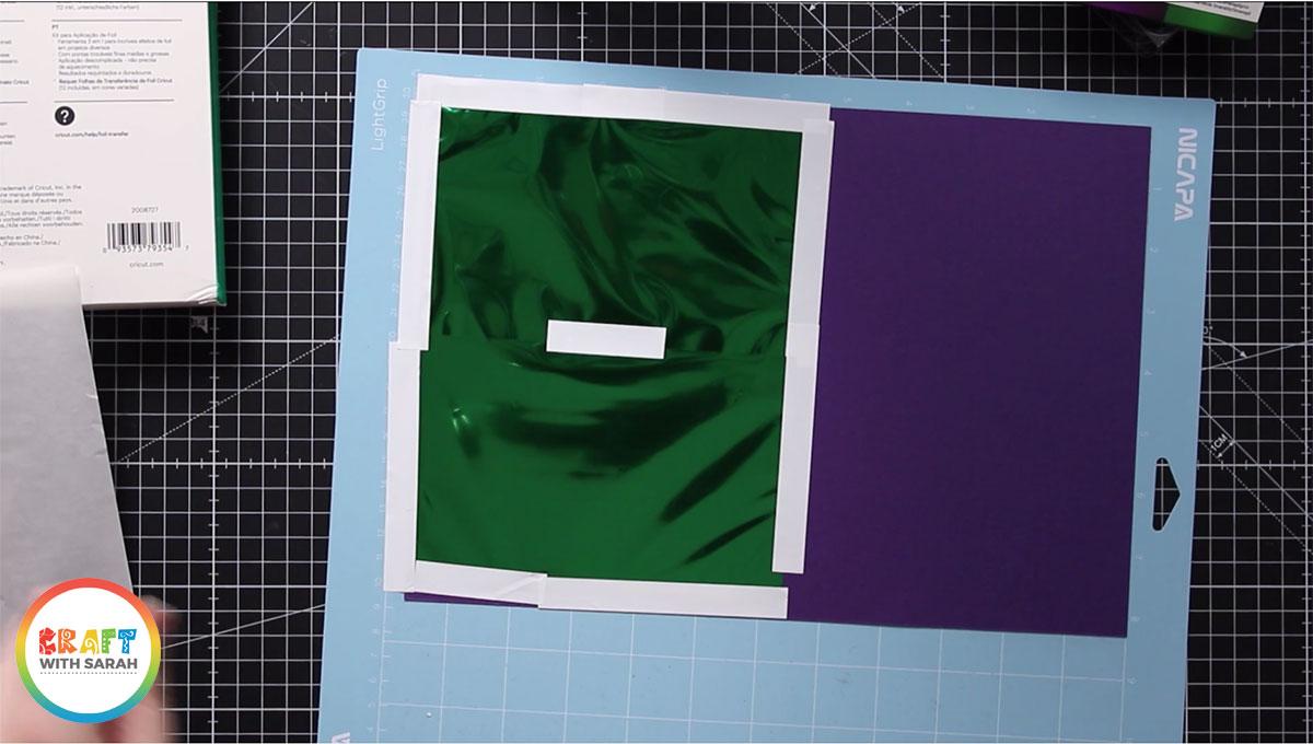 Add the green foil