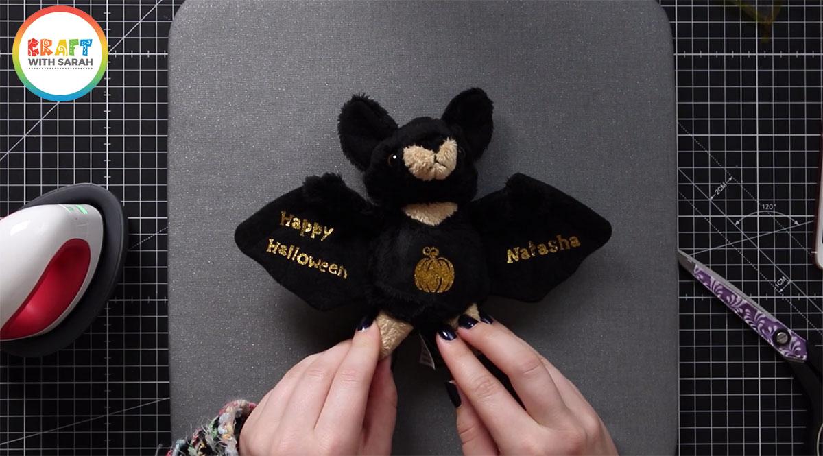 The finished customized bat soft toy