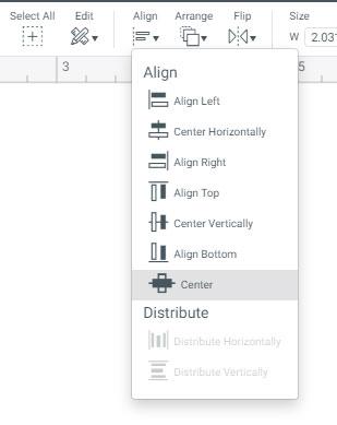 Align tool in Design Space