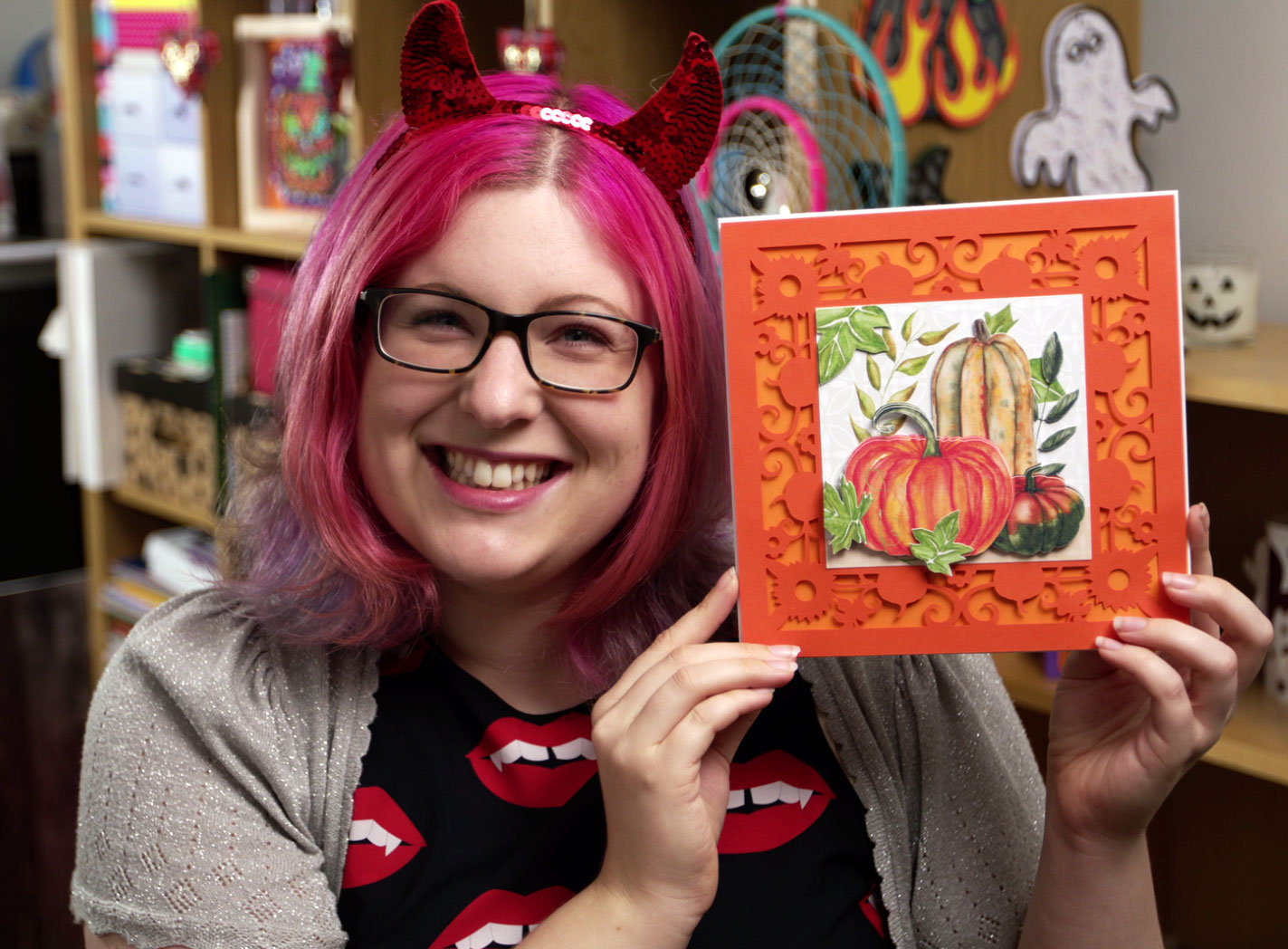 Make a handmade card for Fall