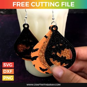 Bat Earrings Cutting File