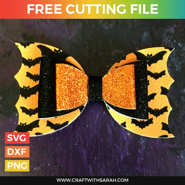 Bat Hair Bow SVG Cutting File