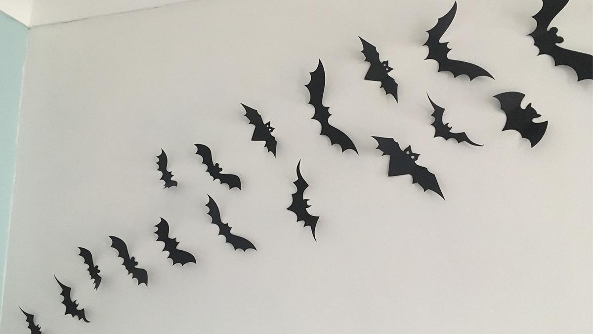 Halloween bat wall